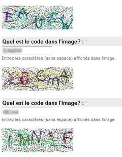 exemple d'images captcha